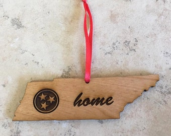 Wood Tennessee Ornament