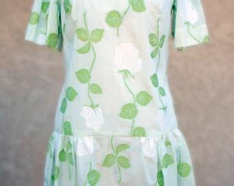 SALE 1960s  Designer Sample Dress Vintage Embroidered Swiss Cotton New Item # 636 Spring/Summer Dresses