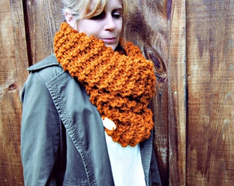 Knitting Pattern Cowl Neck Warmer THE LACONIA Chunky Outerwear