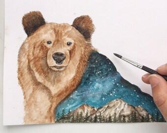 Grizzly Bear -Original A5
