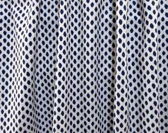 PAIR  LINED Drapes Sahara Indigo Blue Lacefield fabric