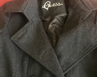 Vintage Wool Blend Guess Pea Coat Small