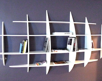 Invisible fastenings Japanese design wall library