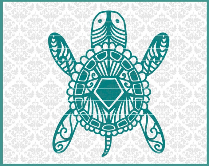 Turtle Svg, Turtle Drawing Svg, Zentangle Turtle Svg, Mandala Turtle Svg, Water Turtle Svg, Tortoise svg, beach svg, beach decor svg, files