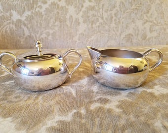 REDUCED!!! Vintage Silver plate Creamer and Sugar set - Sheffield Silver Co.
