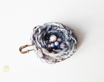 Silk flower. Brooch Silk. Brooch handmade