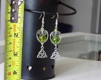 Celtic heart earring