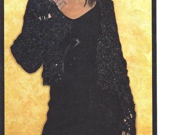 Quick Easy Crochet Pattern Womans Bolero Jacket Sizes S M L