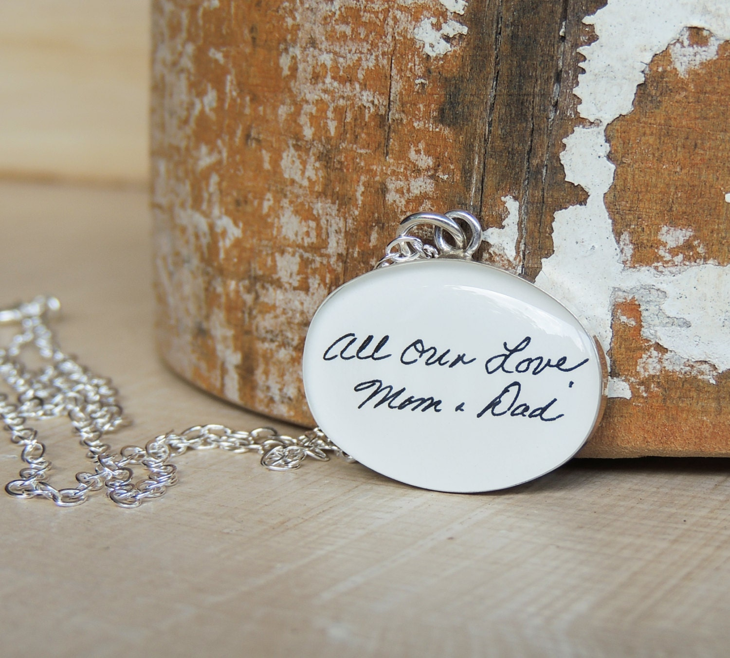 Handwriting Necklace Handwriting Jewelry Memorial Gift Signature Necklace Gift for Mom Personalized Jewelry Sympathy Gift