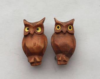 Vintage Owl Pin Set