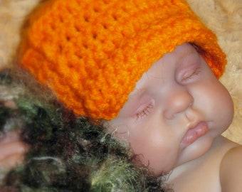 Baby Boy HUNTER HAT - Photo Prop - Orange - Hunting