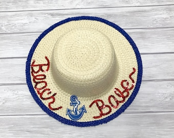 Beach Babe Girls' Floppy Hat, Floppy Hat, Personalized Floppy Hat, Beach Hat, Sequin Hat, Sequin Floppy Hat, Disney Hat, Girls' Floppy Hat