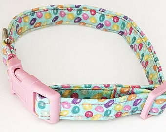 Pink and Green Easter Dog and Cat Collar with Jelly Beans