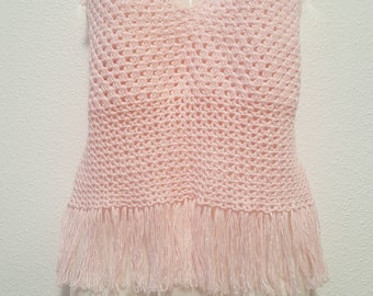 Crochet woman blouse with adjustable straps, soft cotton yarn