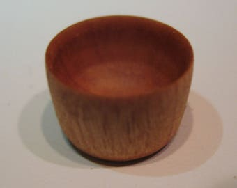 Cherry wood hand turned bowl 1:12 scale 1/2 inch tall