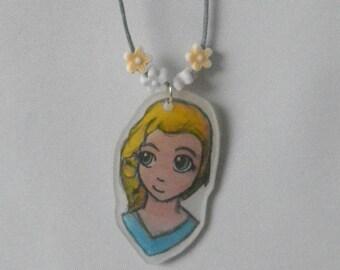 """Disney"" - Elsa - the snow Queen necklace"