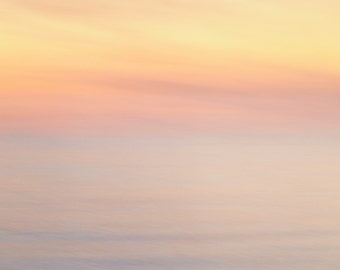 Modern serene beach sunset photograph. Inspiring abstract. Extra large wall art for lake house guest bedroom. Retirement gift for husband.