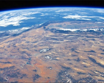 Poster, Many Sizes Available; Iss View Of The Southwestern Usa