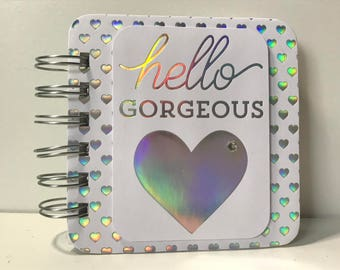 Hello Gorgeous Holographic Password Book