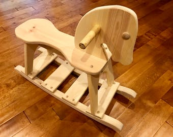 Classic Wooden Toy Rocking Horse