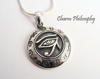 Eye of Horus Necklace - 925 Sterling Silver Jewelry - Egyptian Jewelry