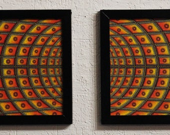 Modern diptych: Concentration.