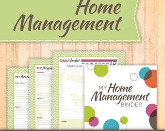 Home Management Binder Kit, Instant Download