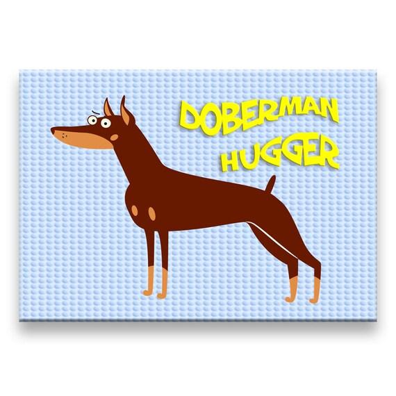 Doberman Pinscher Hugger Fridge Magnet No 2