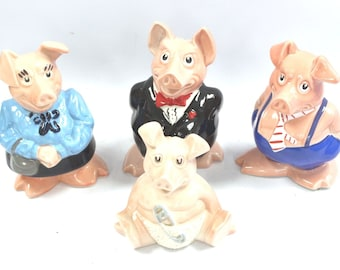 WADE NATWEST Collection of 4 Piggy Bank Money Boxes