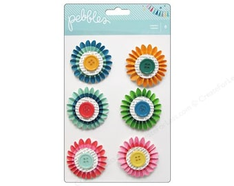 Pebbles Birthday Wishes Rosettes -- MSRP 4.00