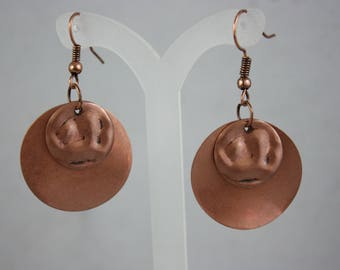 earrings, copper earrings, metal earrings, dangle earrings, drop earrings,