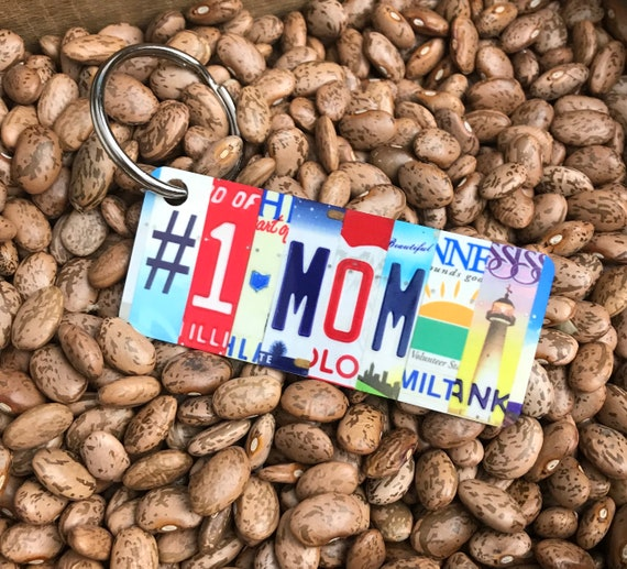 Mothers Day License Plate Keychain -Key Ring bag tag - Gift for Mothers Day -Mothers Day gift, #1 Mom