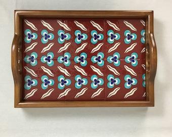 Handmade Ceramic and Wooden Decorative Tray