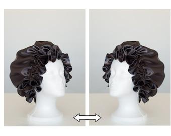 Slate Grey Satin Hair Bonnet