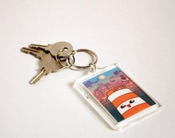 Ponto the road barrel Montreal keychain
