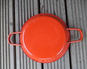 Vintage Enamel Pan, Enamel Gratin Dish, French Enamel Pan, Vintage Enamel, Vintage Kitchen, Vintage Camping, Shabby Chic  (ref 304)