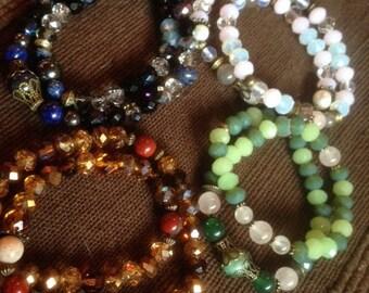 Seasons, winter, spring, fall, summer bracelet