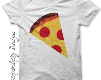 Pizza Iron on Shirt PDF - Food Iron on Transfer / Kids Pizza Party Shirt / Toddler Tshirt / Kids Boys Clothing Tops / DIY Baby Clothes IT5