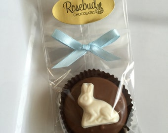 12 Chocolate White Bunny Rabbit Oreo Cookie Favors Easter Animals Spring