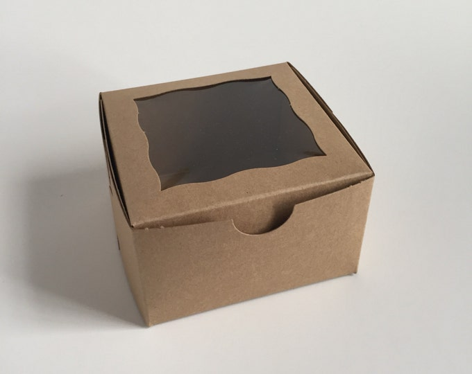 Bakery Box - Candy Box - Eco-friendly Box - Cardboard Box with Window