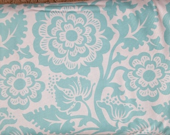 Sale!! Blockprint Blossom Aqua Fabric by Joel Dewberry Modernist Collection Fabric by the Yard