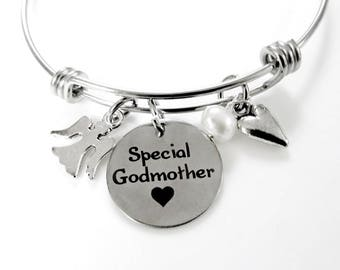 Special Godmother Gift Bracelet - Special Godmother Bracelet - Christmas Gift Godmother - Gift from GodChild - Godmother Birthday Gift