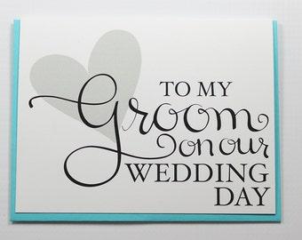 Wedding Card, Wedding Day Card, Groom Card, Fiance Card, Husband Card, On Our Wedding Day