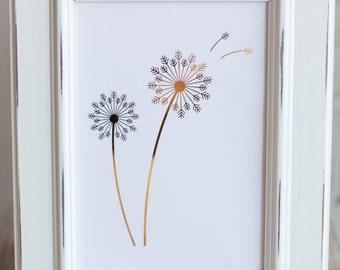 Dandelion Foil Print