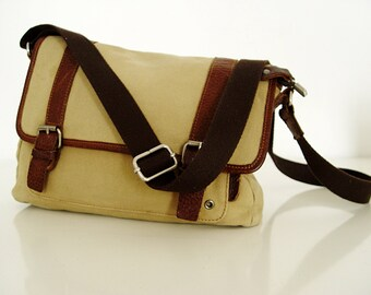Canvas Messenger Bag.