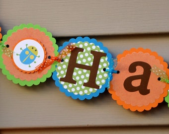 Bug Banner. Insect Banner. Happy Birthday Banner. Choose boy or girl