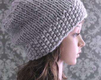 Knitting PATTERN - Slouchy Hat Pattern - Knitting Patterns - Knitting Pattern Hat - Baby, Child, Regular Adult, Large Adult Sizes - PDF 362