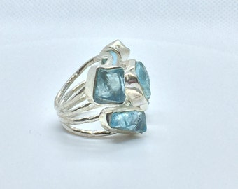 Aquamarine on Sterling Silver