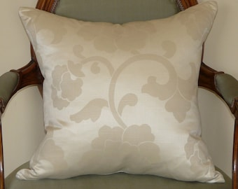 CLEARANCE! Glamorous Silk Floral Pillow Cover