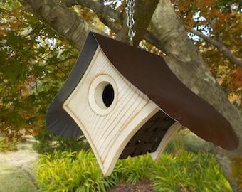 Outdoor Birdhouse / MODERN BIRDHOUSE / Hand Crafted Birdhouses